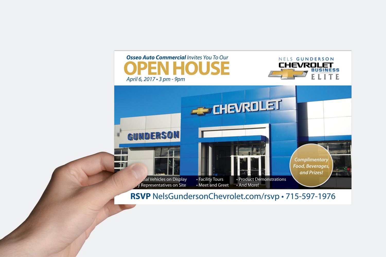 Nels Gunderson Open House Postcard
