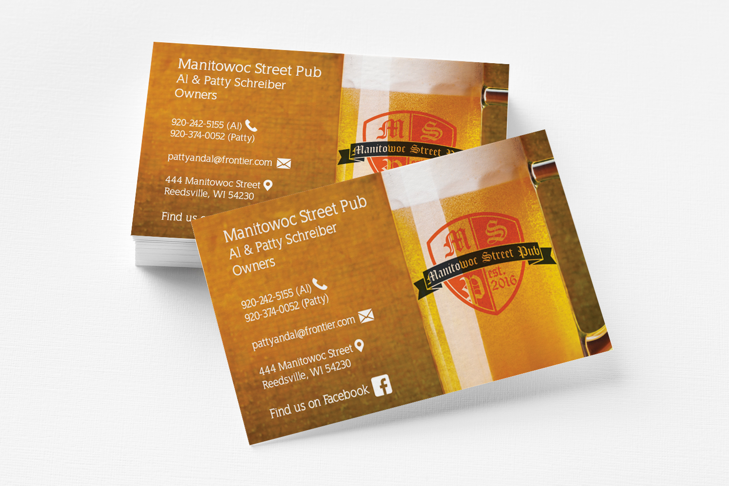 Manitowoc Street Pub Business Cards