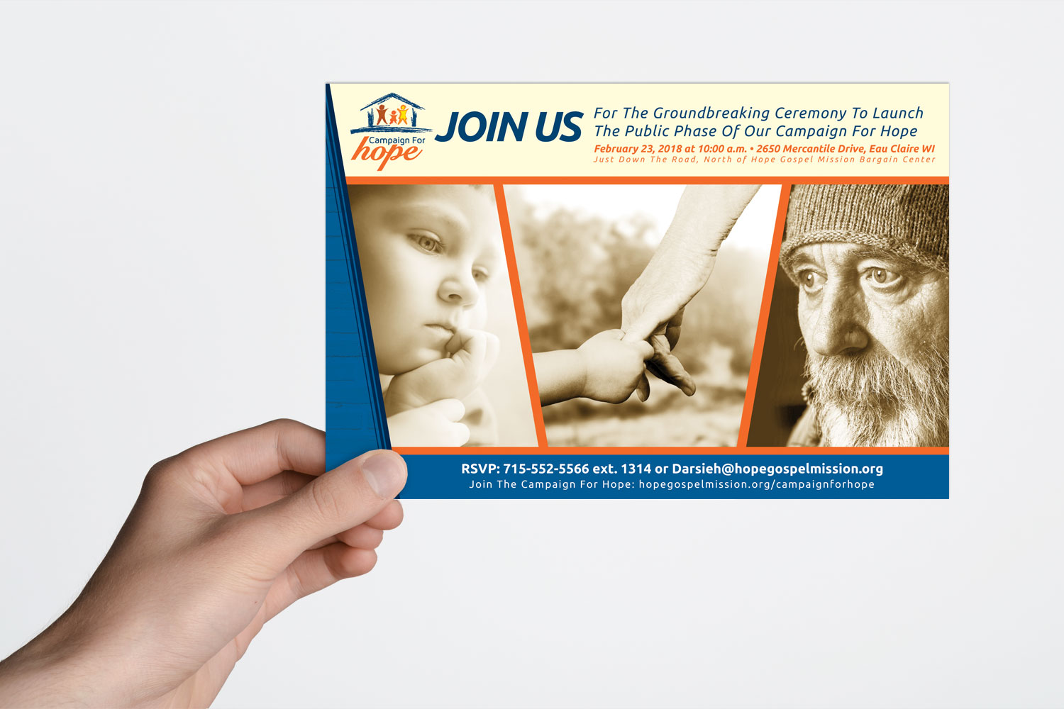 Campaign for Hope Groundbreaking Postcard